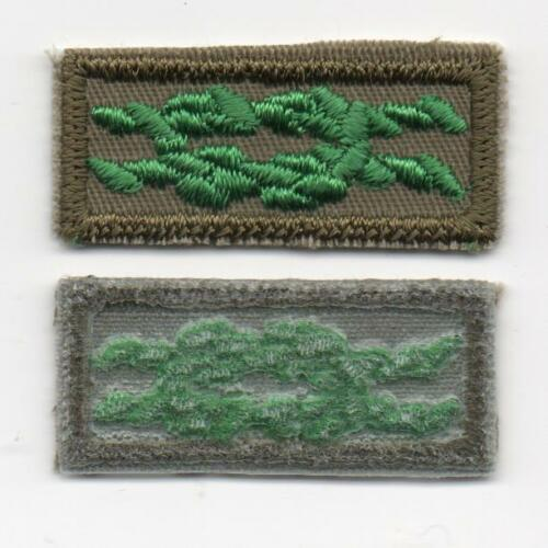 Mint! Clear Plastic Backing Scouter/'s Training Award Knot on Khaki Weave