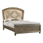 thumbnail 3 - NEW Modern LED Queen King 4PC Champagne Gold Bedroom Set Glam Furniture B/D/M/N
