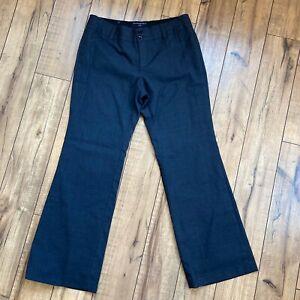 Banana-Republic-Wool-Lined-Pants-Womens-10S-Ryan-Fit-Charcoal-Career-Dress-Slack