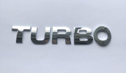 Chrome Qualité 3D auto-adhésif Voiture Lettre badge emblème autocollant orthographe Turbo