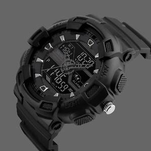 SKMEI-Men-039-s-Large-Dial-LED-Digital-Waterproof-Chrono-Sports-Military-Wrist-Watch