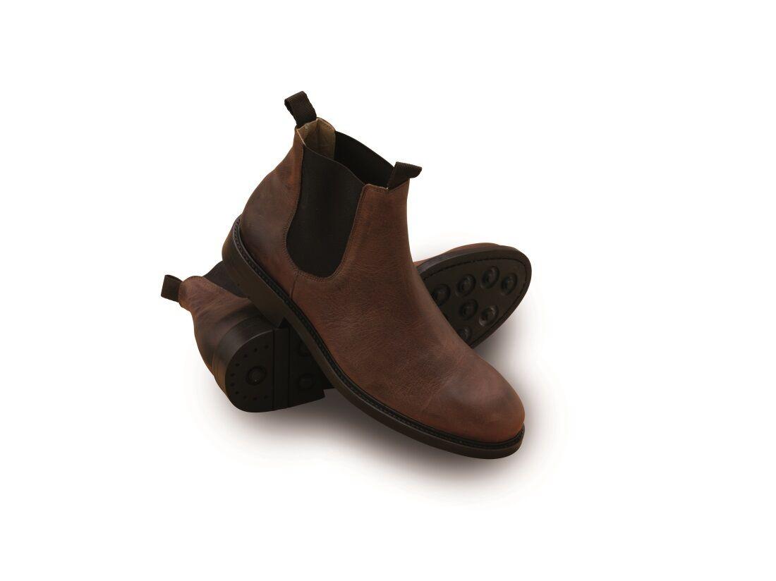 Mens Laksen Chelsea Boots - cognac - new