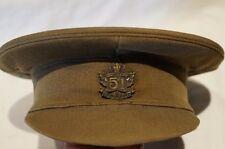 WW1 Canadian CEF 51st Battalion Officers Peak Cap Hat