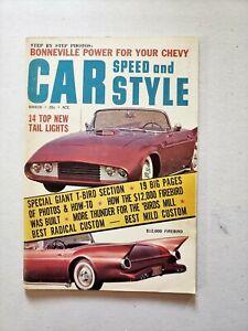 Car Speed and Style magazine March 1961 T-Bird Firebird