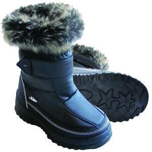 XTM-Kisa-Kids-Winter-Apres-Snow-Gum-Boots-Black-Size-25-36