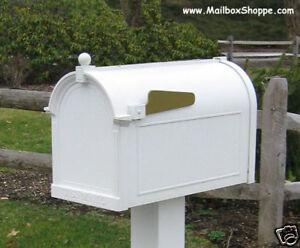 Whitehall Mailbox Cast Aluminum Post Mount Mail Box Ebay
