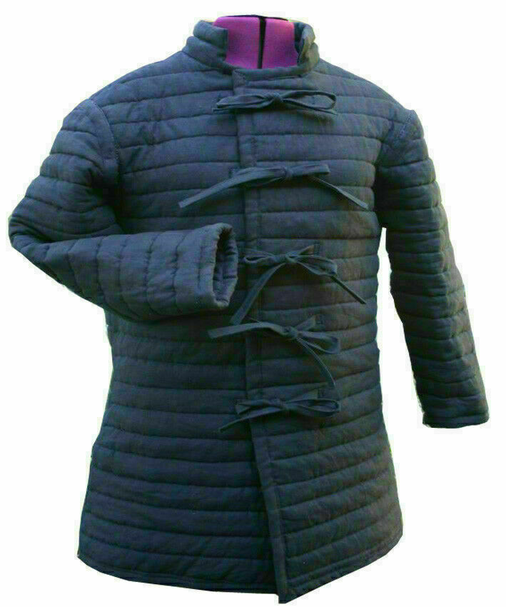 Medieval Gambeson Medieval Padded collar full sleeves GIFT FOR HUSBAND