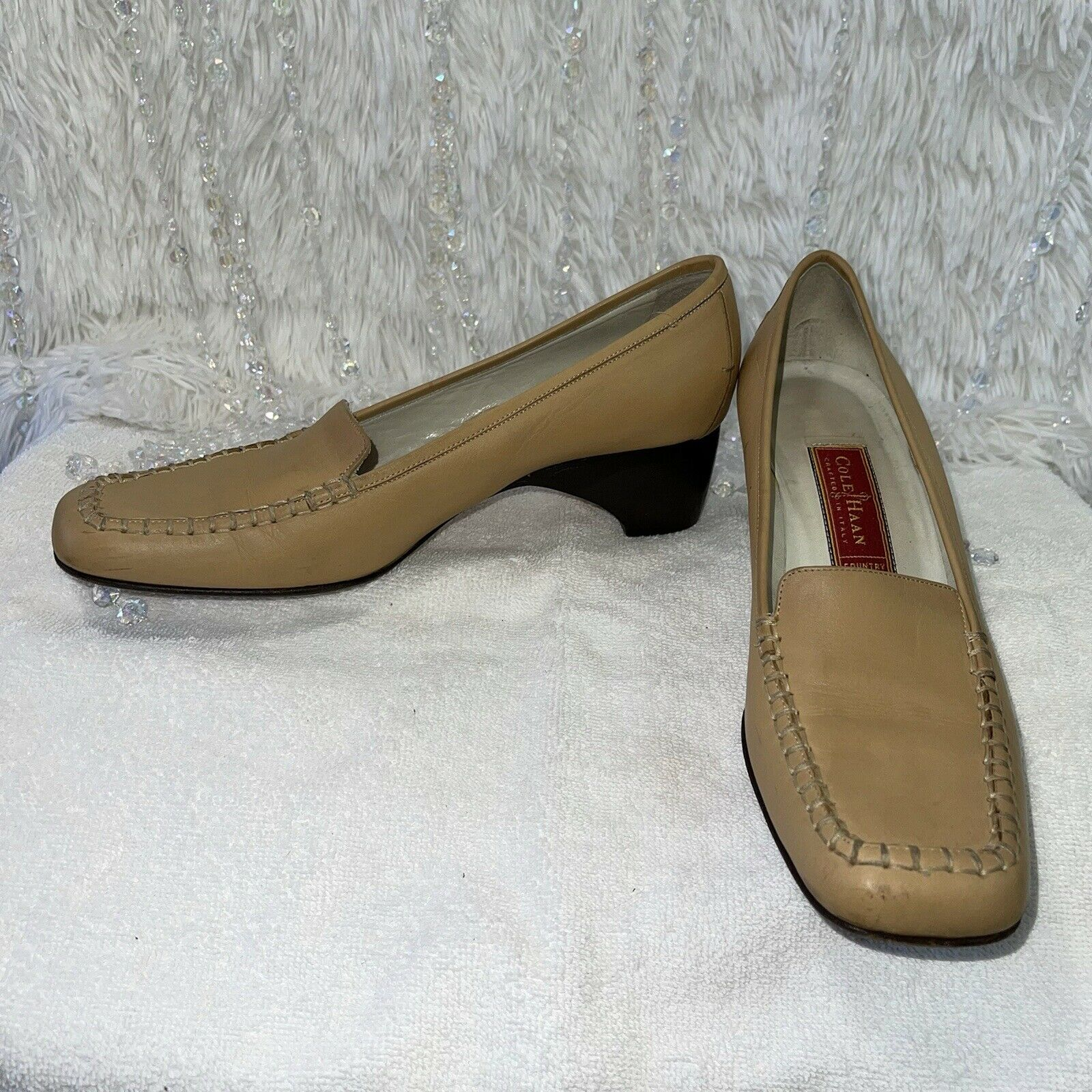 Cole Haan Country Leather Loafers Womens 8AA Tan … - image 8