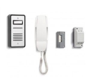 TC264 3 WAY BELL AUDIO DOOR PHONE INTERCOM WITH ELECTRIC LOCK KIT /& POWER SUPPLY