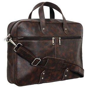 Vebeto 15.6 Inch Faux Leather Shoulder Sling Laptop Messenger Bag For Unisex