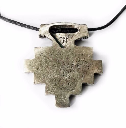 Asgard Handcrafted Pewter Viking York Hiddensee Style Pendant Cord Necklace