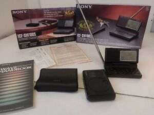 Sony ICF-SW100S Pocket Shortwave AM FM Radio Receiver With Wave Handbook MIJapan