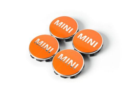 4x nuevo original mini embellecedores buje cubierta f54 f55 f56 f57 f60 naranja