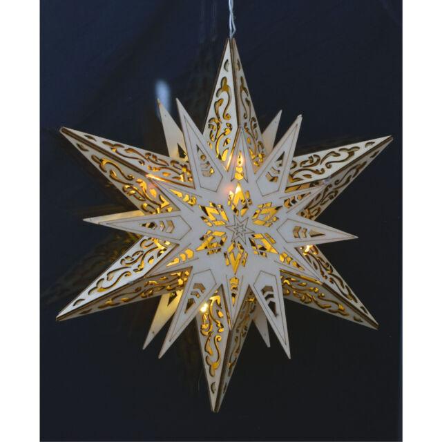 Weihnachtsbeleuchtung Xxl.Xxl Led Weihnachtsstern Fensterdekoration Holzstern Weihnachtsbeleuchtung Stern