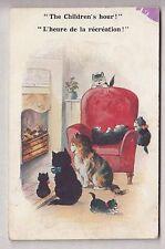 CPA  ANIMAL ART -  CHAT CAT CHILDREN HOUR JEUX HEURE DE LA RECREATION 1931 ~B45
