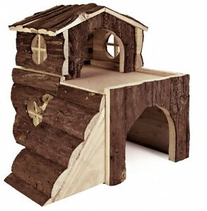 TWO-STOREY-BJORK-NATURAL-WOOD-HOUSE-WITH-RAMPS-HAMSTER-DEGU-MICE-GUINEA-PIG