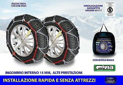 Catene Neve Power Grip 12mm Gr 140 per gomme 225//55r18 Nissan X-Trail