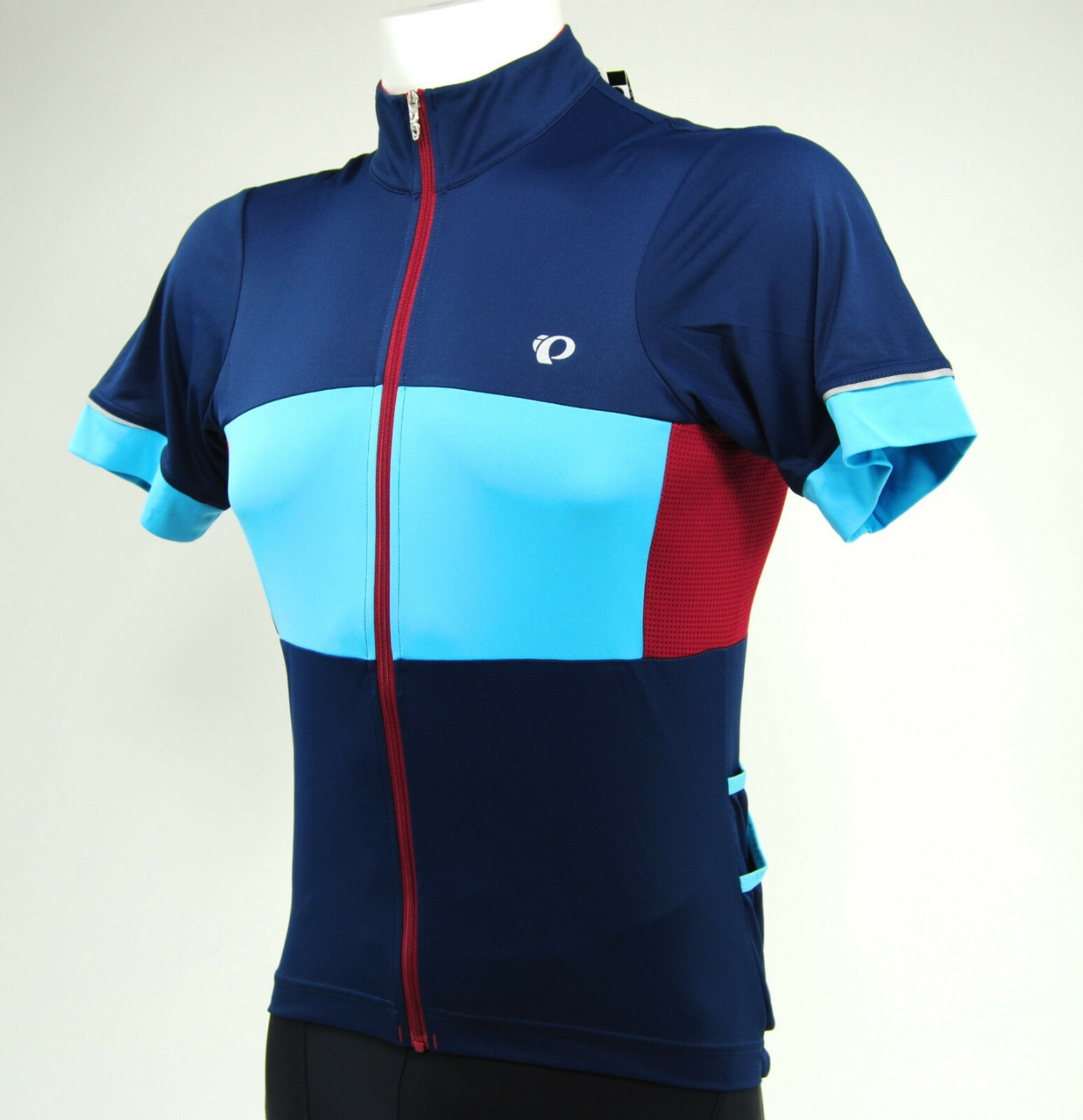 Pearl Izumi Elite Escape Semi Form Cycling Jersey, Eclipse Blau/Blau Mist, Small