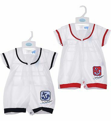 Baby Boys Layette 5 Pieces 100/% Cotton Gift Set Sailor Nautical Outfit NB-6 Mths
