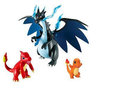New Pokemon Mega Charizard X Set Action Figures Tomy Charmander Charmeleon Rare