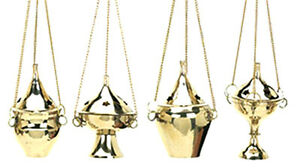 1-Assorted-Hanging-Brass-Censer-Incense-Charcoal-Cone-Resin-Burner-NEW