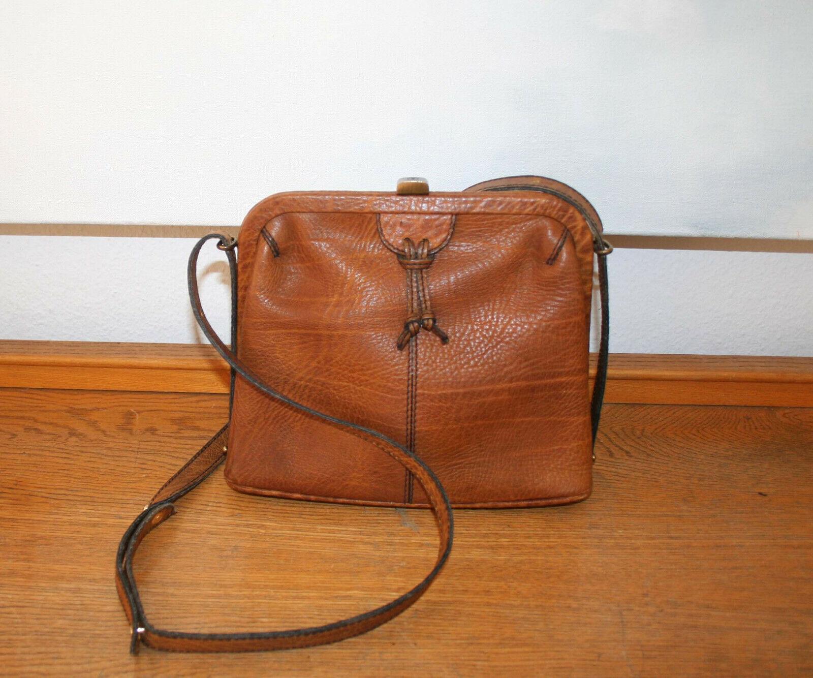 dc259d35fbea6f Goldpfeil Caracciola Tasche, lässige Vintage Vintage Vintage Handtasche,  Leder, 100 % Original   Förderung 1016fb