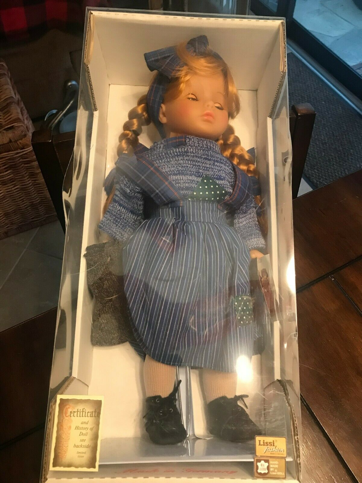 Original Lissi Fashion Doll  Sina  Made In Germany 18 Inches Tall New in Box