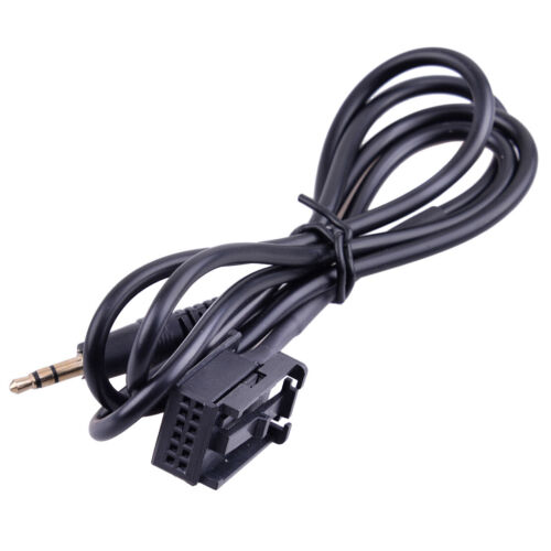 3.5mm AUX Audio Interface Adapter Cable Fit For Vauxhall Universal 12 Pin