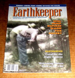 1994-EARTHKEEPER-CANADA-ENVIRONMENTAL-MAGAZINE-Ecotourism-Cannabis-Hemp-Industry