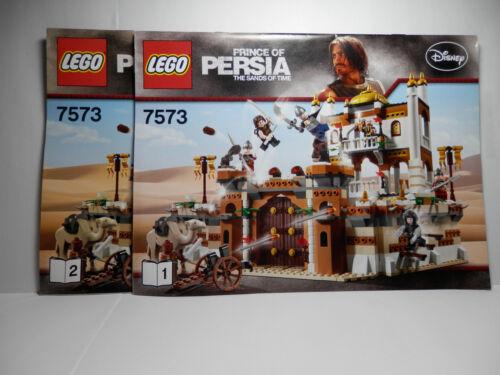 LEGO LEGOS  Set of 2 INSTRUCTION BOOKS 7573  Prince of Persia Battle of Alamut