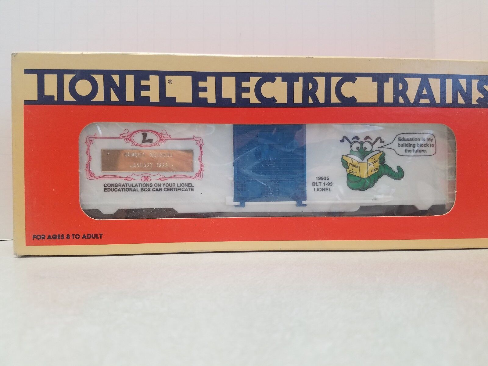 Lionel Learning Center Box Car - QUALITY METHODS VERSION