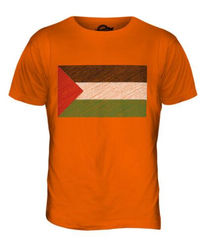 PALESTINE SCRIBBLE FLAG MENS T-SHIRT TEE TOP GIFTFILAST?N PALESTINIAN