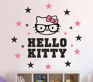 hello kitty geek nerd aufkleber decal kit kinder. Black Bedroom Furniture Sets. Home Design Ideas