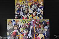Persona 4 4koma Kings 1~5 Complete Set doujinshi manga