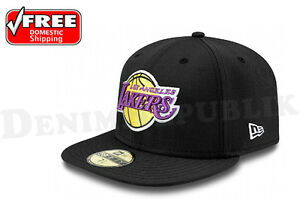 New-Era-59FIFTY-LA-Los-Angeles-Lakers-Hat-NBA-Hardwood-Classic-Cap-Black