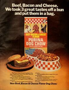 1976 Vintage ad for Purina Cog Chow/Beef-Bacon & Cheese ...