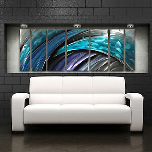 Image Is Loading Large Metal Wall Art Sculpture Abstract Wave Painting