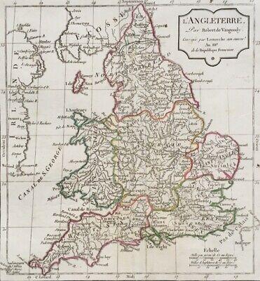 Carte De L'angleterre Au 18ème Par Robert De Vaugondy , Corrigée Par Lamarche Modieuze (In) Stijl;