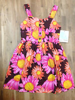 Bonnie Jean Girls' Daisy Dress, Brown, Size 8, Msrp $38