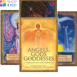 Angels-Gods-amp-Goddess-Oracle-Deck-Cards-Esoteric-Fortune-Telling-Blue-Angel