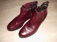 MARIPE Stiefeletten Chelsea Boots Gr.39 (eher 40) Leder dunkel rot