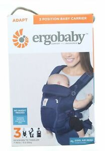 e62ca011b87 Ergobaby ADAPT Cool Air Mesh Ergonomic 3 Multi Position Baby Carrier Deep  Blue
