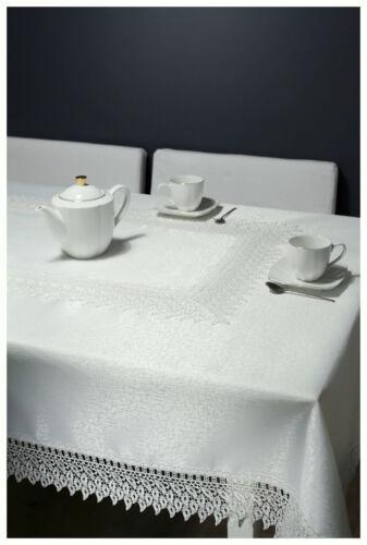 Nappe Nappe De Table Coureur Dentelle Crème Festif gipüre 85x85 cm