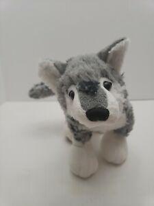 GANZ-Webkinz-Rare-Grey-Wolf-Plush-Stuffed-Animal-PLUSH-ONLY-HM358-RETIRED