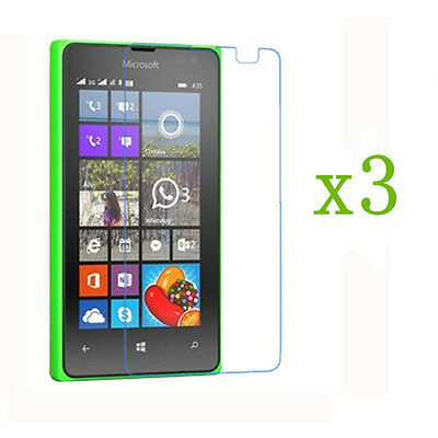 3 Pcs Clear Screen Protector Protective Film for Microsoft Nokia Lumia 435 532
