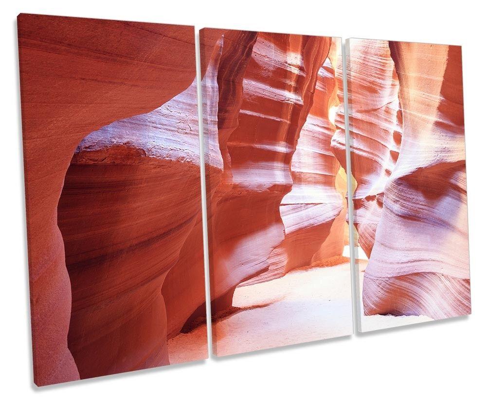 Antelope Canyon Landscape Picture TREBLE CANVAS WALL ART Print Print Print 4099fd