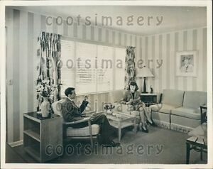 Details About 1946 Post WWII Décor In Living Room N Aluminum House Kansas  City MO Press Photo