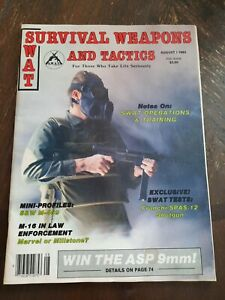 S.W.A.T Survival Weapons and Tactics Magazine August 1983 SWAT Operator Police