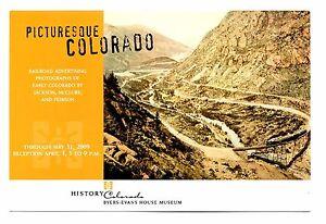 Picturesque Colorado Postcard Railroad Advertising Byers Evans House Museum