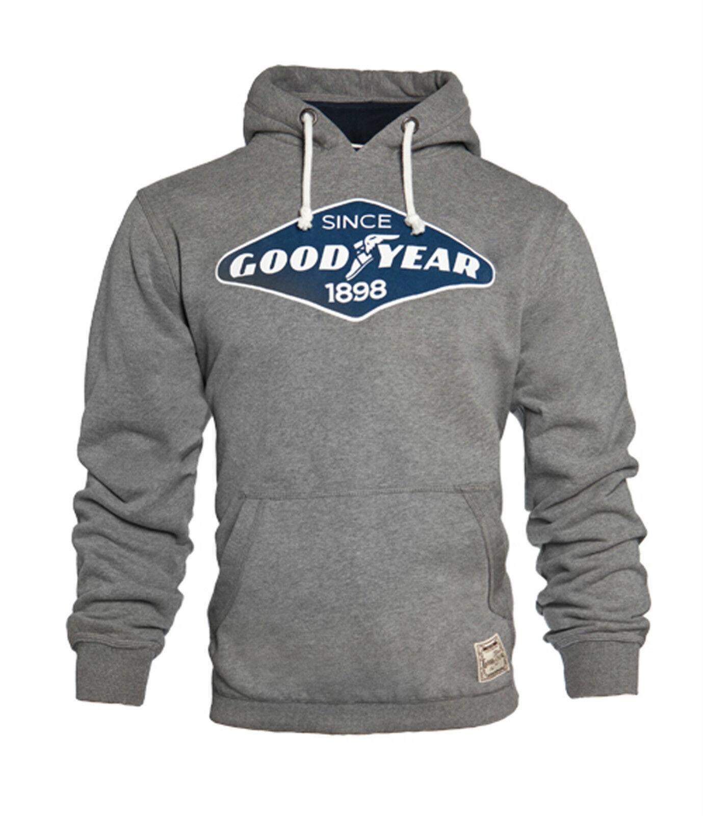GoodYear Hoodie Grey Sweatshirt OREGON Motorcycle Auto Biker Hot-Rod Slim-Fit